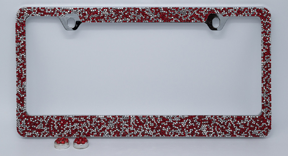 Red/Silver Crushed Crystal LF07