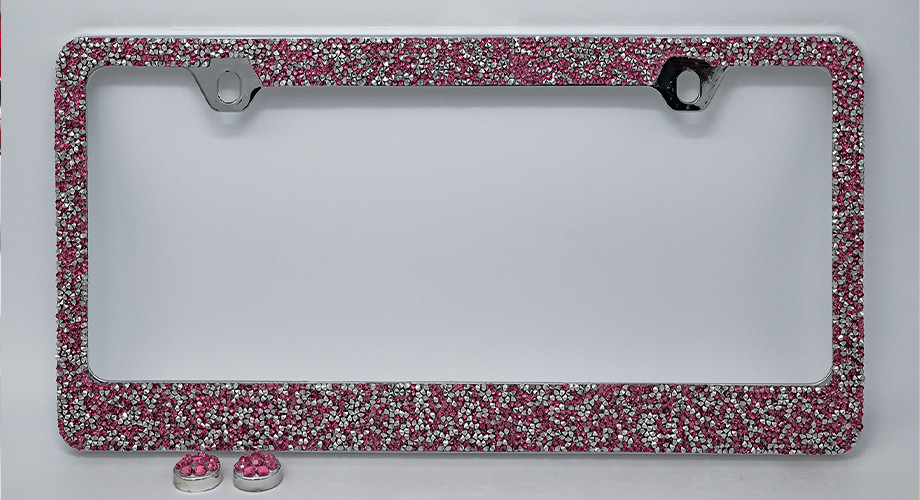 Pink/Silver Crushed Crystal LF06