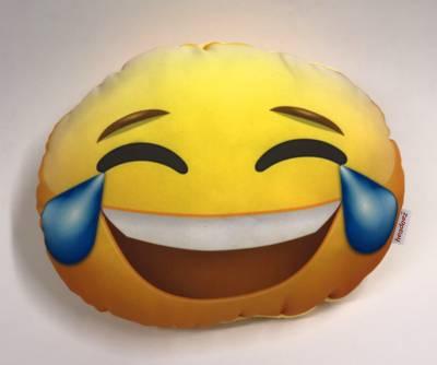 Headeez™ Headrest Pillow Happy Tears Emoji