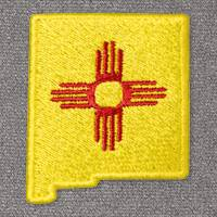 New Mexico with Flag (LG406)