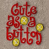 Cute as a Button (LG256)