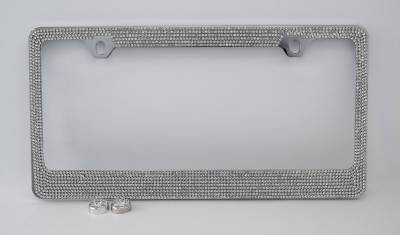 7 Row Crystal License Plate Frame