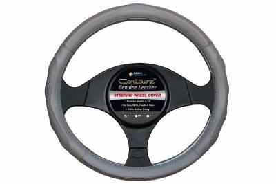Steering Wheel Covers - Contourz Pro Grip Leather  Gray