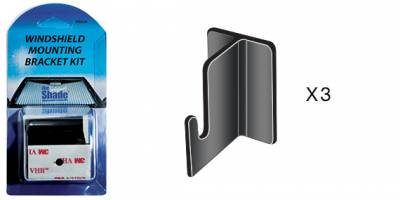 Sun Shades - Mounting Brackets - Replacement Retractable Sun Shade Mounting Brackets ( 3 Pack)