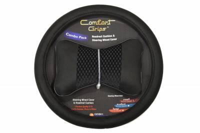Dashcessories - Comfort Grips™ Combo Packs - Headrest/SWC Combo Pack  Black