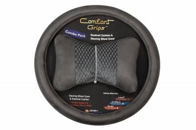 Dashcessories - Comfort Grips™ Combo Packs - Headrest/SWC Combo Pack  Gray