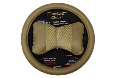 Dashcessories - Comfort Grips™ Combo Packs - Headrest/SWC Combo Pack Tan