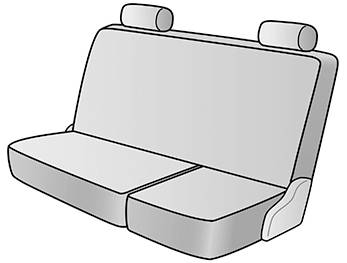 2010 FORD F-250 SUPER DUTY SEAT COVER REAR/MIDDLE