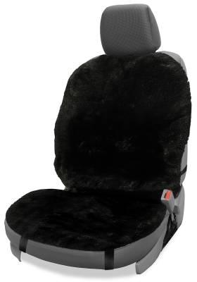 Dashcessories - Seat Topper™ Sheepskin Covers - Seat Topper™ Sheepskin Topper Black Without Headrest Cover