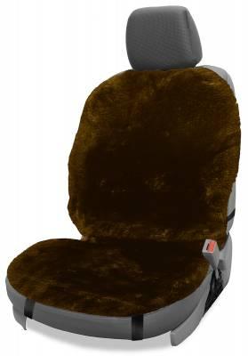 Dashcessories - Seat Topper™ Sheepskin Covers - Seat Topper™ Sheepskin Topper Brown Without Headrest Cover