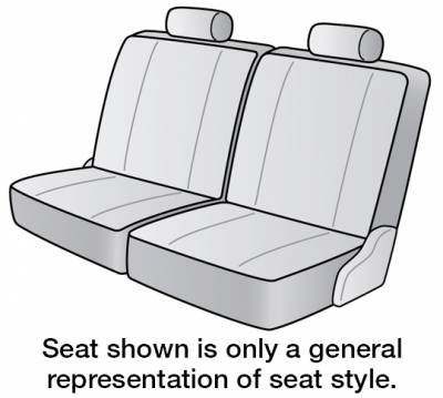 Seat Covers - 3rd Row - Dash Designs - 2021 CHEVROLET EXPRESS 3500 SEAT COVER REAR/MIDDLE
