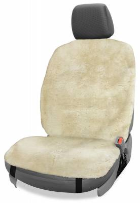 Seat Topper™ Sheepskin Topper Beige Without Headrest Cover