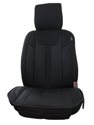 Seat Topper Comfort Cushion Black Leatherette