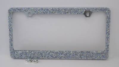 Dashcessories - License Plate Frames - Rainbow Crushed Crystal License Plate Frame