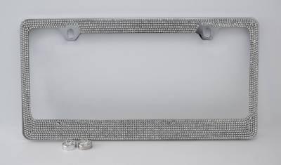 Dashcessories - License Plate Frames - 7 Row Crystal License Plate Frame